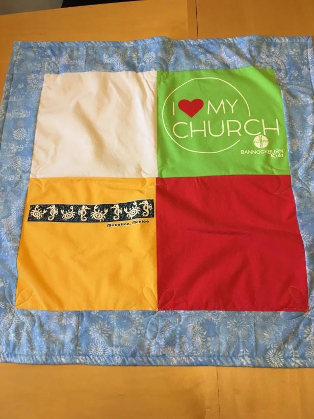 t-shirt quilt #2
